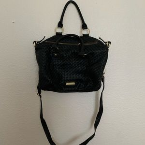 Steve Madden Weave Lather Tote/ Sling Purse